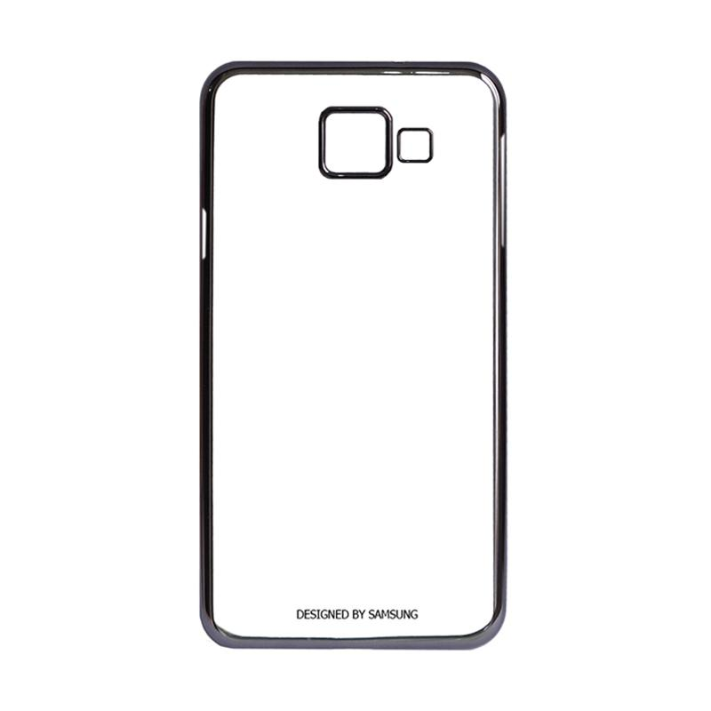 Samsung Shining List Chrome Casing for Galaxy A3 2016 A310 - Black
