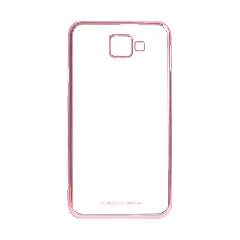 Samsung Shining List Chrome Hardcase Casing for Galaxy A3 2016 A310 - Rose Gold