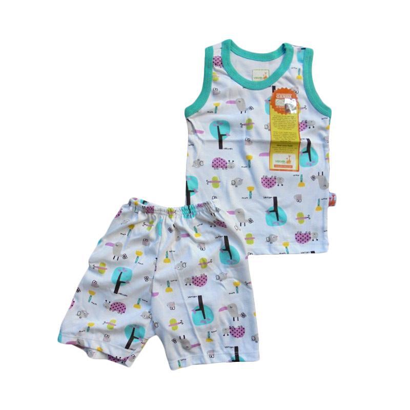 Velvet Junior Motif Tucano Sleeveless Setelan Baju Tidur Anak - Tosca