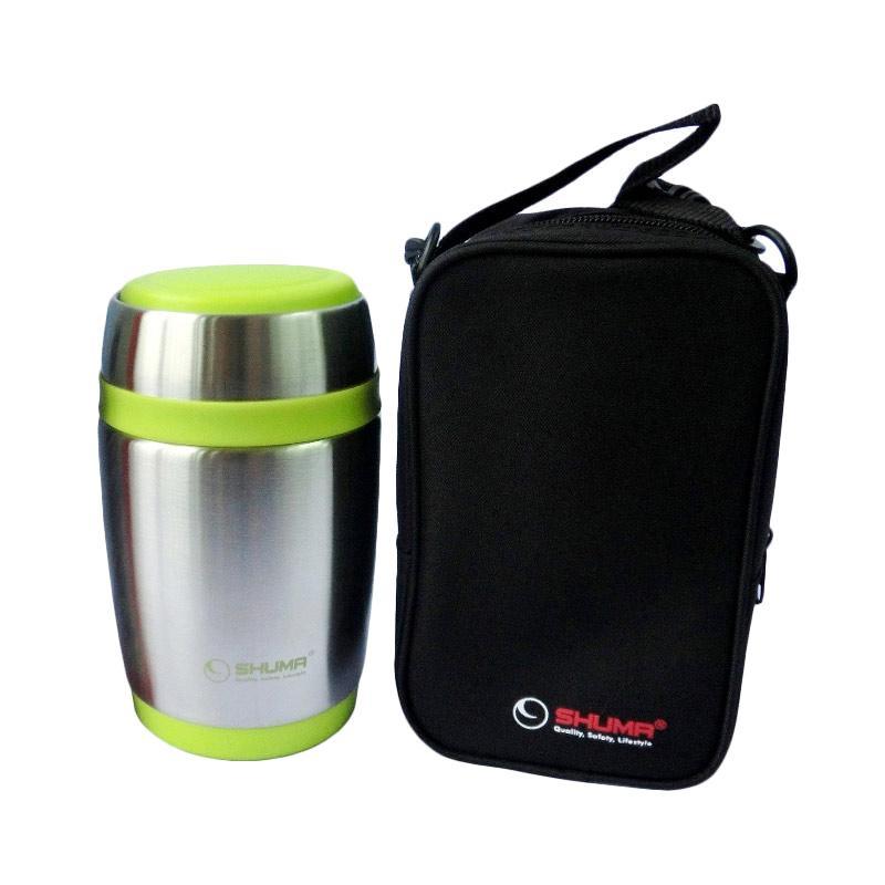 Shuma S/S Vacuum Food Jar - Green [480 mL]