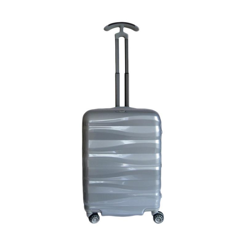Traveler's Choice Edinburg Hardcase Koper - Silver [Small/ 21 Inch]