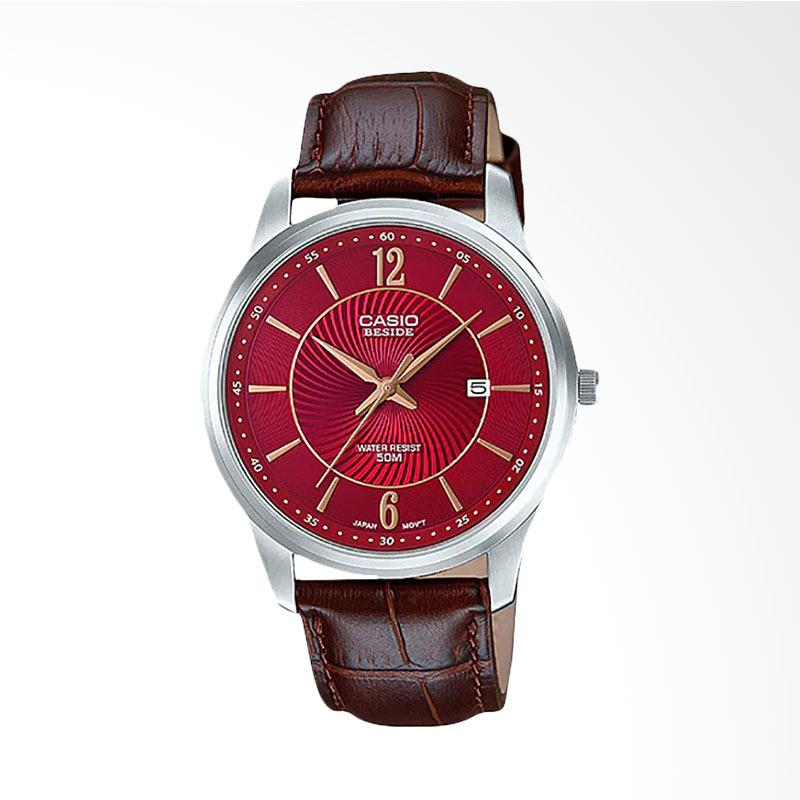 Casio Standard Jam Tangan Pria - Brown Red BEM-151L-4AVDF