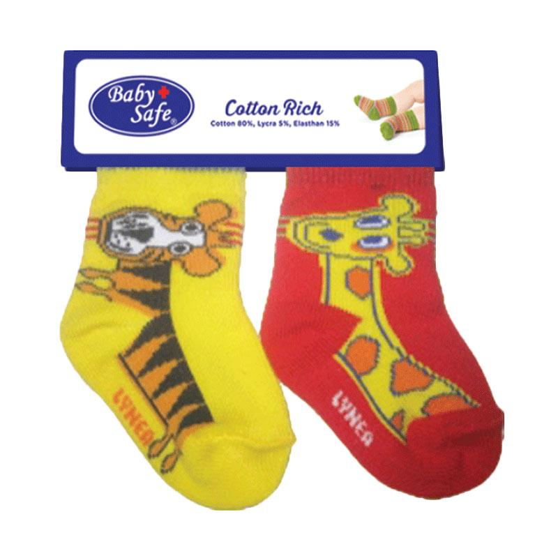 BabySafe BSS 0508 E Kaos Kaki Anak - Red Yellow [2 pcs]