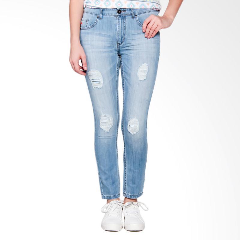 3 Second Ladies Girls 0510 106101723BR Pants Celana Wanita - Blue