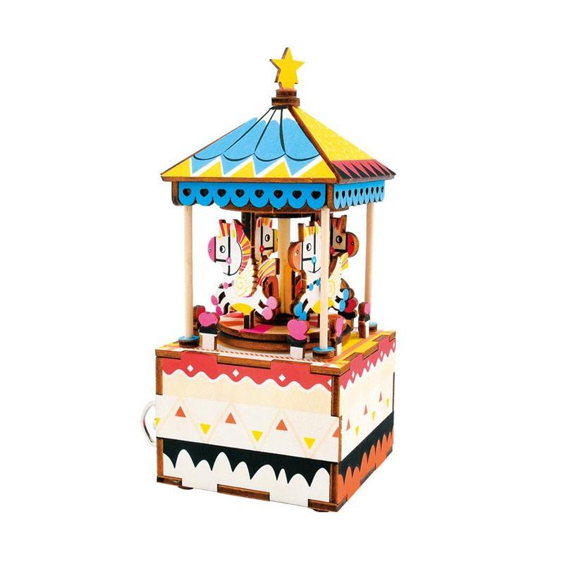harga OHOME AN-KU025A Puzzle Dekorasi Music Box Instrumental Kotak Musik - Multicolor Blibli.com