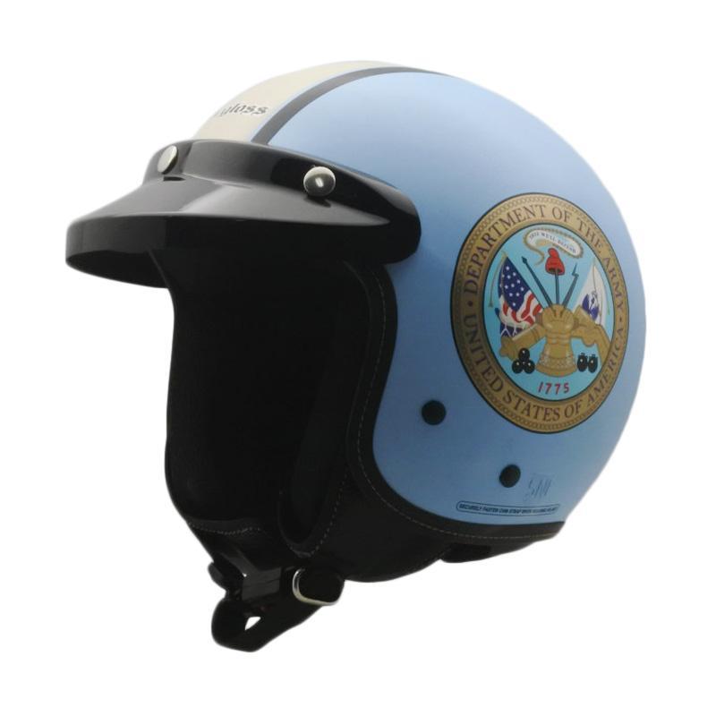 harga Cargloss Cf Retro Departemen Helm Half Face - Light Blue Blibli.com
