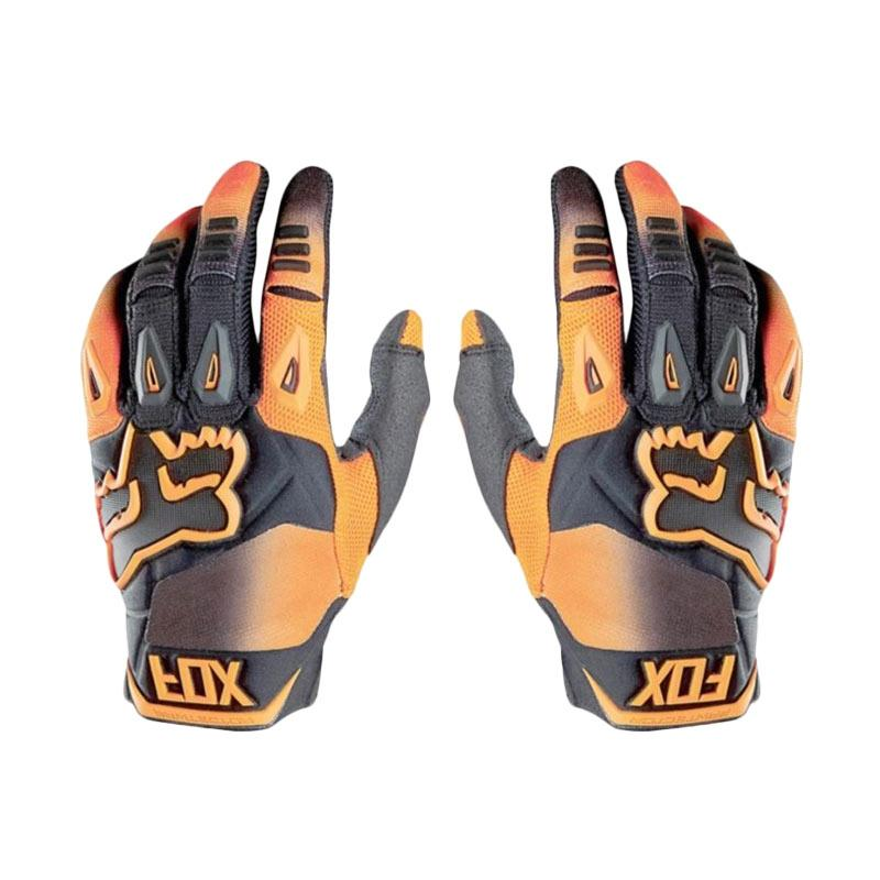 Raja Motor Cross Full Model Fox Pawtector 2016 Sarung Tangan Motor - Orange Hitam