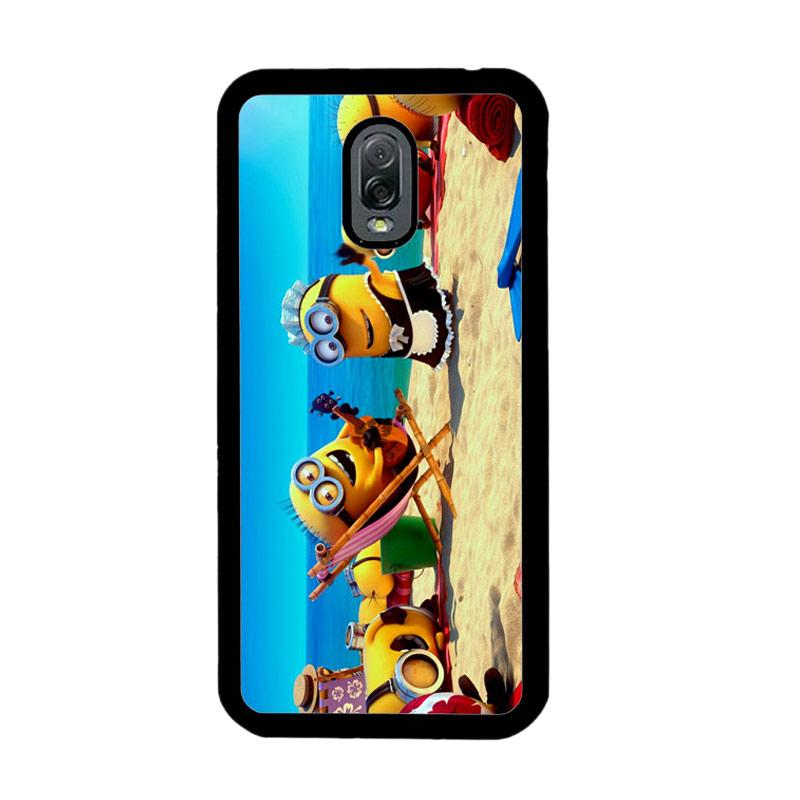 Flazzstore Minions In Beach Vocation Z0465 Custom Casing for Samsung Galaxy J7 Plus
