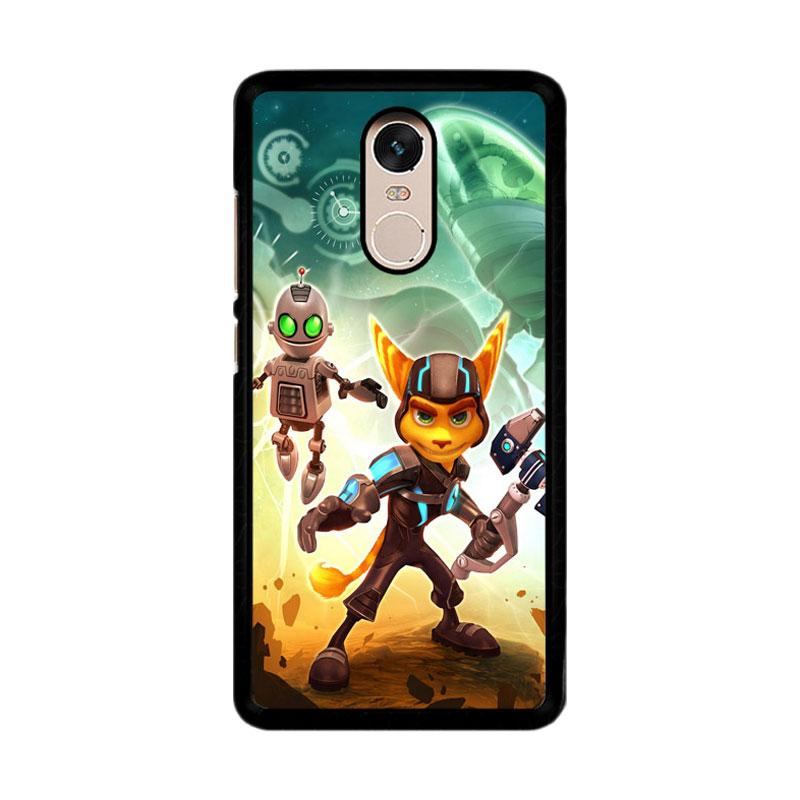 Flazzstore Ratchet And Clank Z1150 Custom Casing for Xiaomi Redmi Note 4 or Note 4X Snapdragon Mediatek