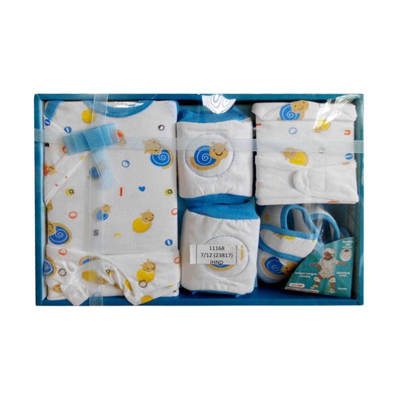 Kiddy Snail 11-168 Pakaian Bayi Gift Set - Biru
