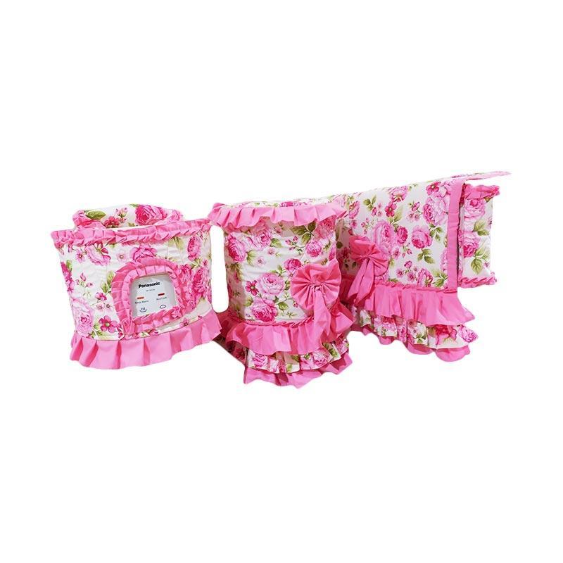 Shafiyyah.Sarban GKM-3 Set Kitchen Linen - Pink Off White