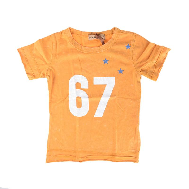 Cabriole 144 Adel & Audrey Top Shirt 67 Kaos Anak - Orange