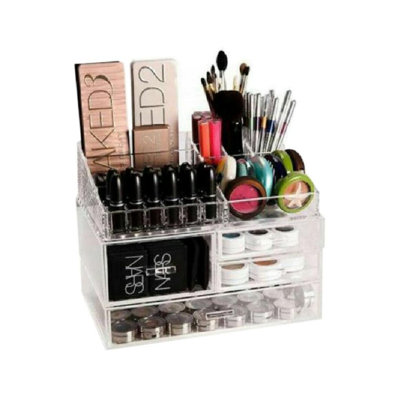 Acrylic Make Up Tipe K3 Tempat Peralatan Make Up - Clear