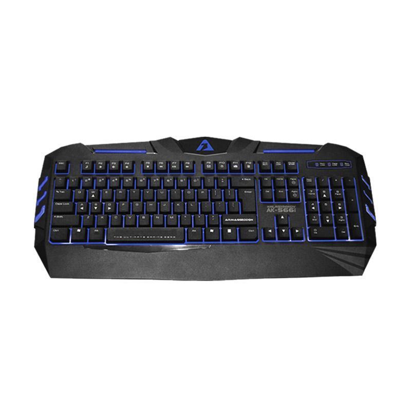 Armaggeddon AK-566i Kalashnikov Gaming Keyboard - Hitam Biru