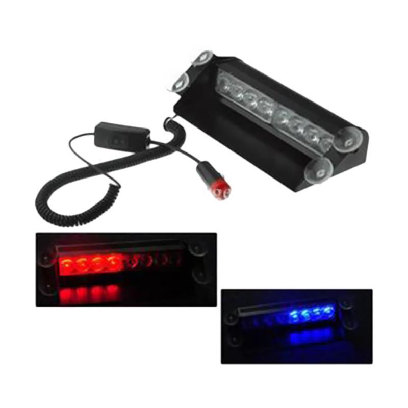 harga Fortuna Lampu Strobo Mobil - Biru Merah [8 LED] Blibli.com