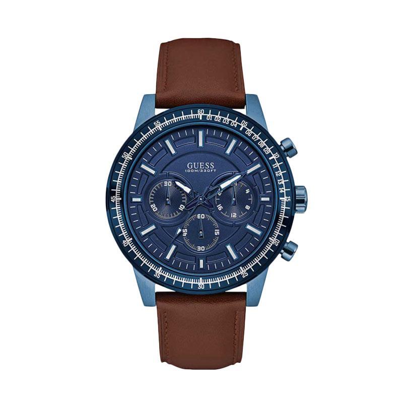 GUESS W0867G2 Jam Tangan Pria - Blue