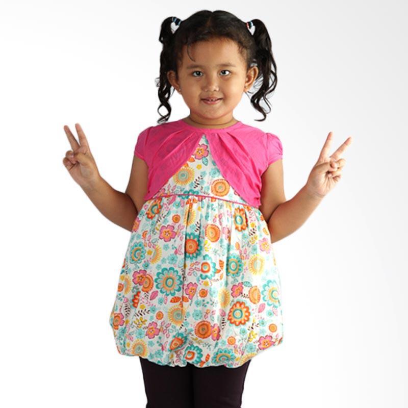 4 You Flower Dress Anak - Fuschia