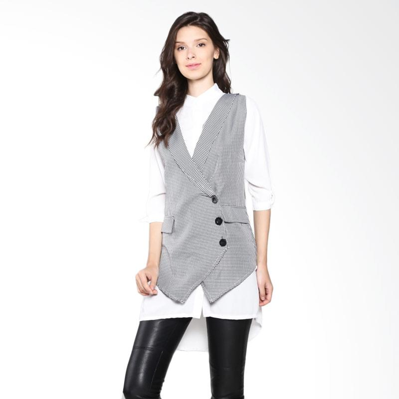 Carte Blouse With Vest - White