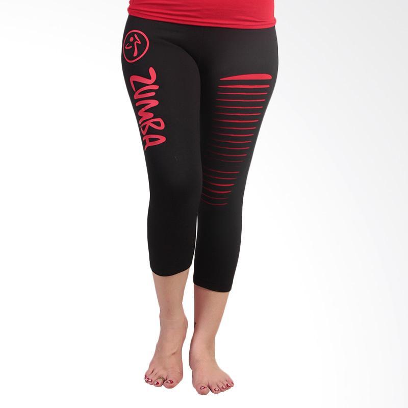 Ronaco T001 Zumba Pants Celana Olahraga Wanita - Black Red