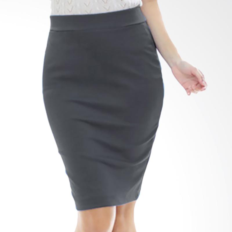 Rasya Rok Wedges Pencil Pendek Skirt - Grey