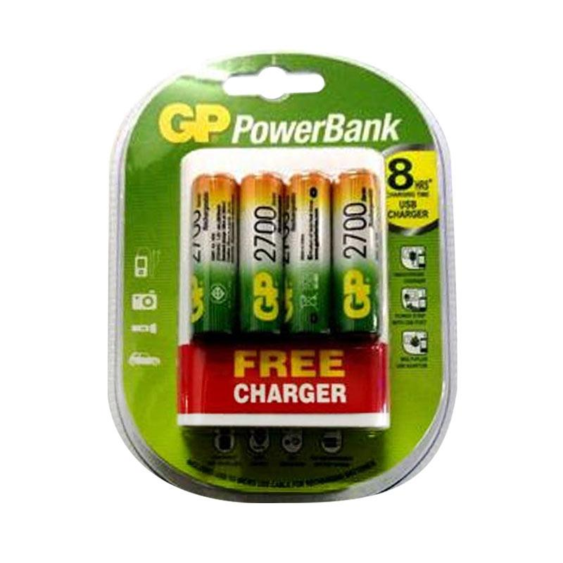GP AA Rechargeable Battery [2700 mAh] + Free Charger