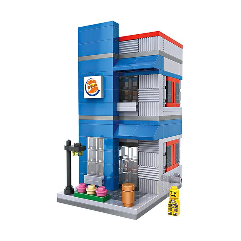 Loz Mini 1602 Burger House Mainan Block & Puzzle