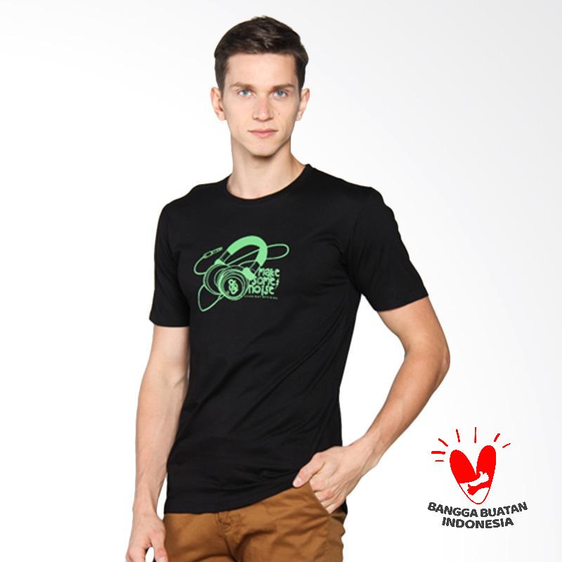 D & J Katun Top Kaos Pria - Hitam 006