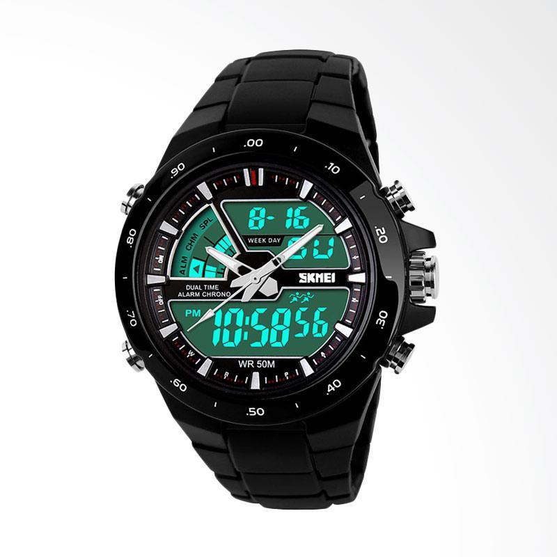 SKMEI Jam Tangan Pria Cowok Analog LED Bezel Casio G-Shock Baby-G Fortuner 1016 AD1016 Original - Hitam