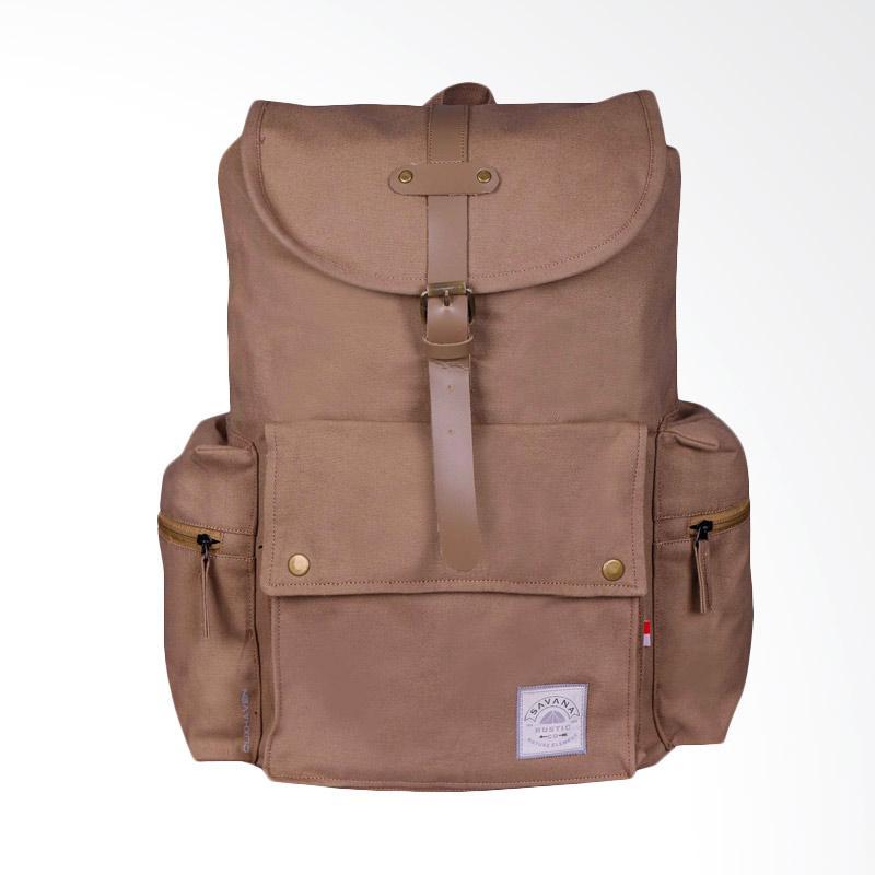 Savana Cuxhaven Canvas Man Backpack - Khaki