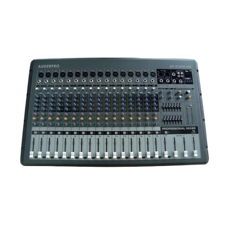 AUDERPRO AP-916PM USB Power Mixer - Dark Grey