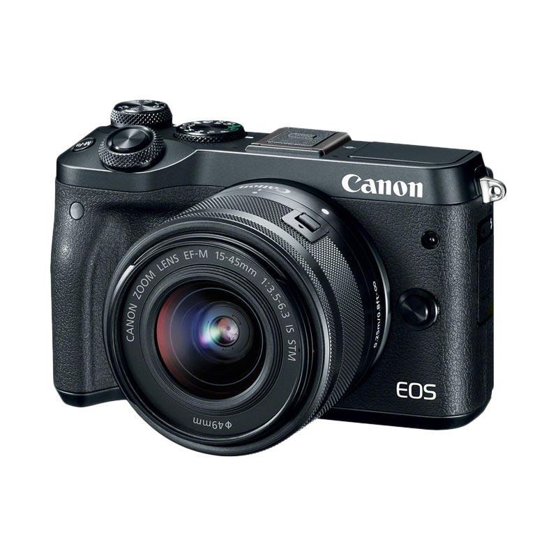 Canon EOS M6 Kit 15-45mm Kamera Mirrorless - Black