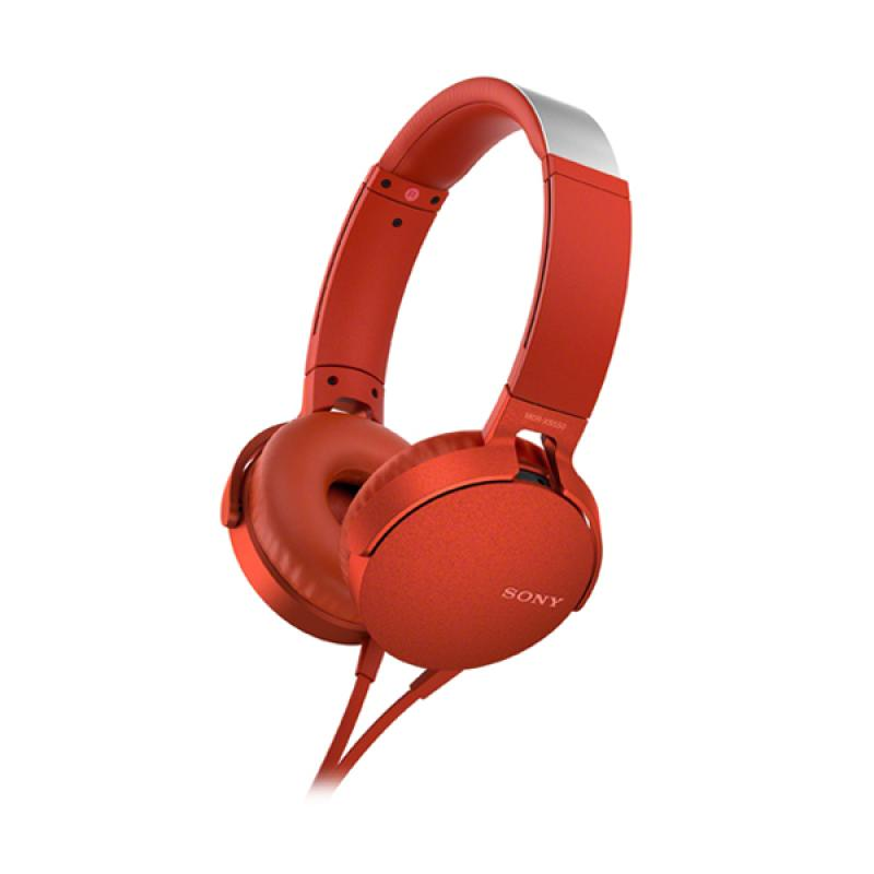 SONY MDR-XB550AP Extra Bass Headphones - Red