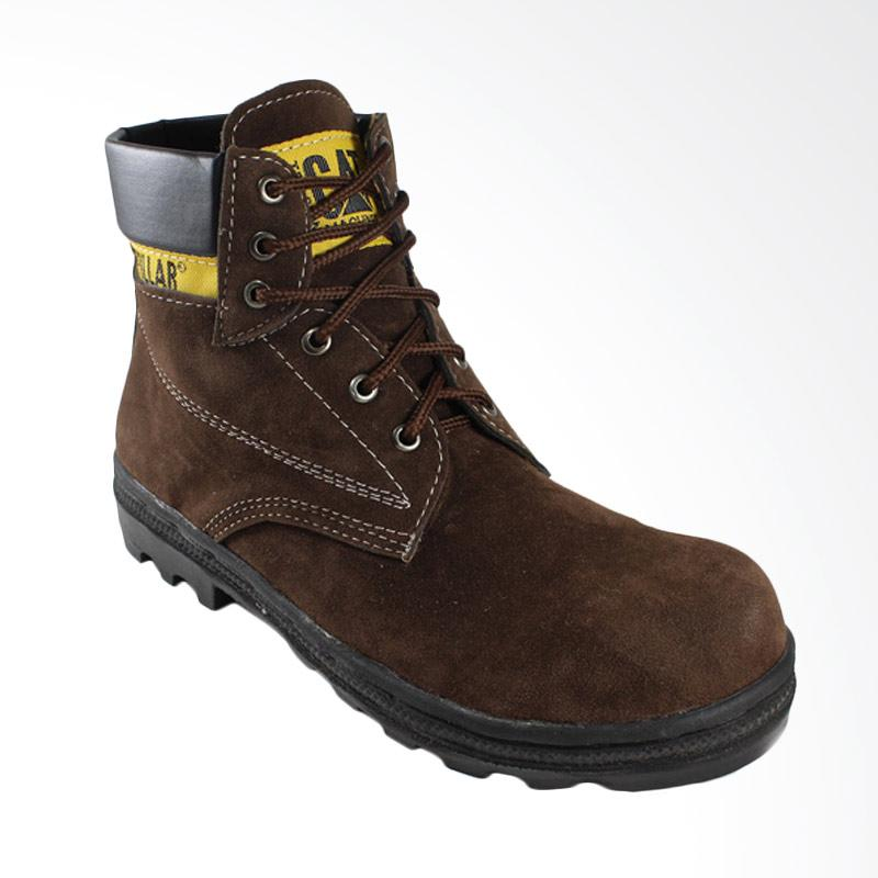Caterpillar Produk Safety Boots Outdoor Suede Leather Sepatu Pria