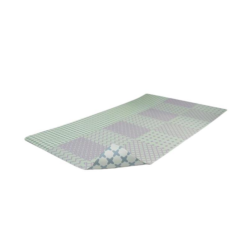 Foldaway Rose Quartz PVC Mat Alas Lantai [Grand/230 x 140 x 1.4]