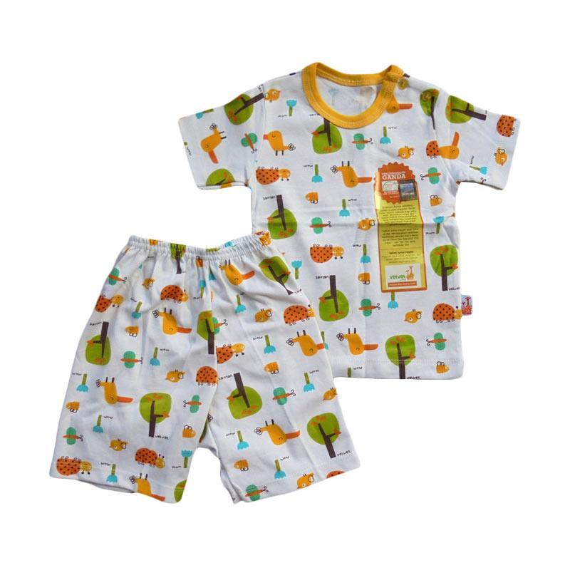 Velvet Junior Motif Tucano Setelan Pakaian Anak - Yellow