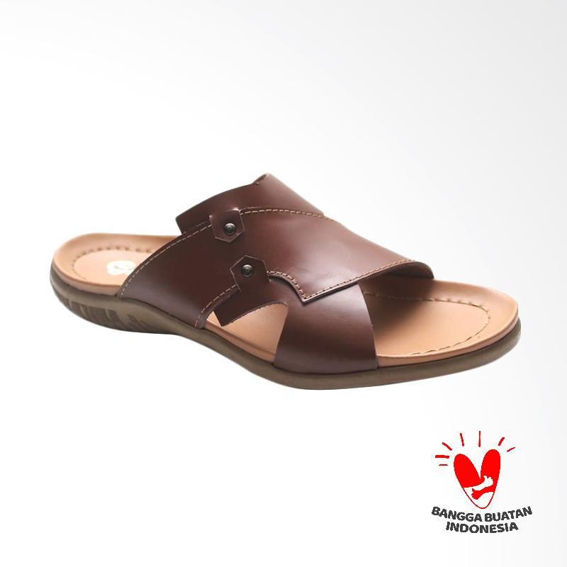 GRUTTY Sandal Pria - Coklat GR 81-094