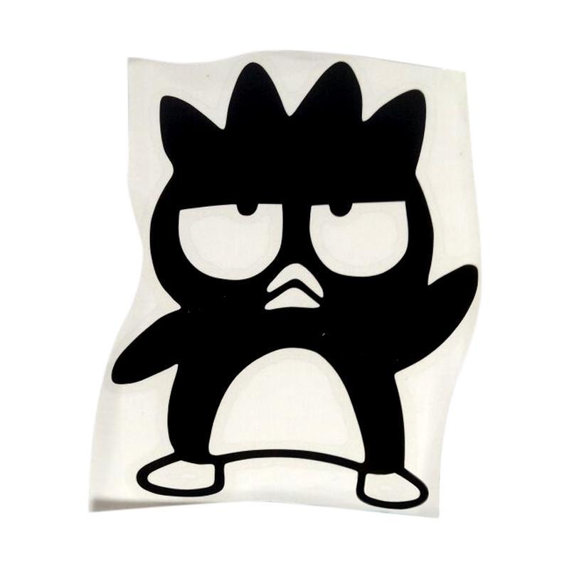 OEM Motif Penguin Bad Badtz Maru Dekorasi Tombol Lampu Saklar Wall Sticker - Hitam