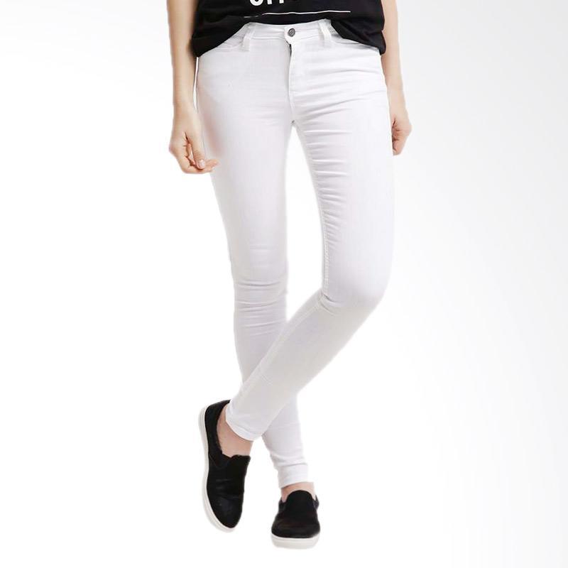 Undepepego Celana Jeans Wanita - Putih