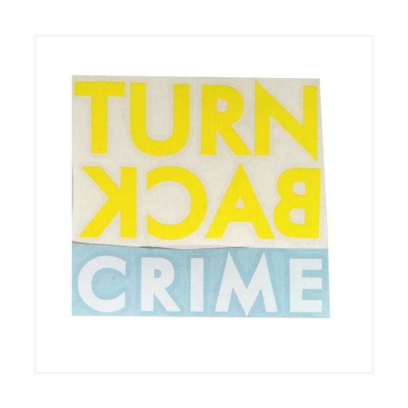 OEM Logo Polisi Turn Back Crime Stiker
