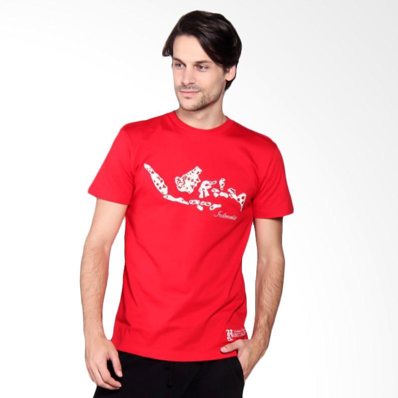 Batik Heritage Indonesia T-Shirt Pria - Red