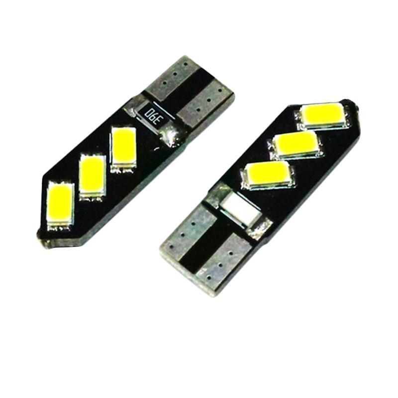 harga JMS Senja T10 w5w Wedge Side CANBUS 6 SMD 5730 Oblique Lampu LED Mobil atau