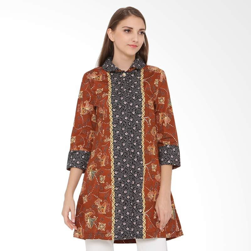 A&D Fashion Ms 817 Ladeis Batik Casual - Brown