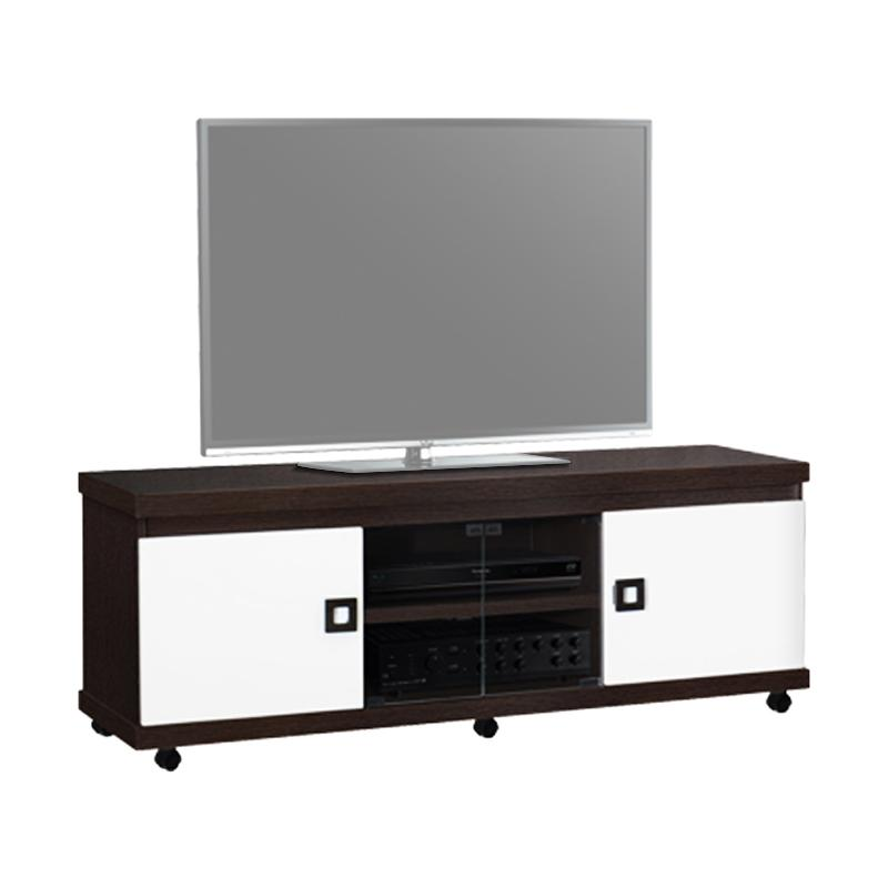harga GRAVER FURNITURE CRD-2681-R Mini Meja TV - Coklat Oak Blibli.com