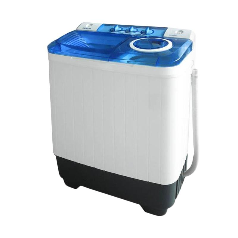 Denpoo DW-828SG Mesin Cuci 2 Tabung - Putih Biru [7 - 8 Kg] hanay JADETABEK