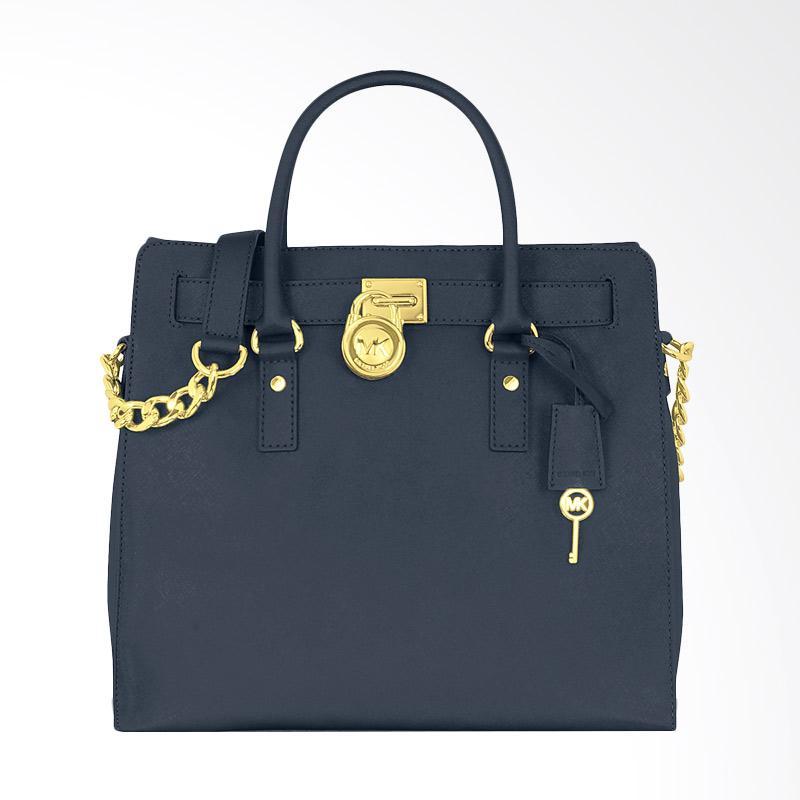 harga Michael Kors Hamilton Large Saffiano Leather Women Hand Bag - Navy Blibli.com