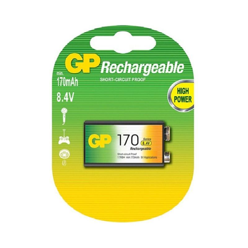 Jual GP Rechargeable Battery [170 mAh/9V] Online - Harga & Kualitas Terjamin | Blibli.com