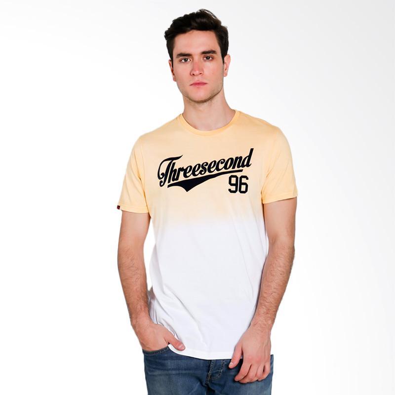 3SECOND Men T-shirt Atasan Pria - Yellow