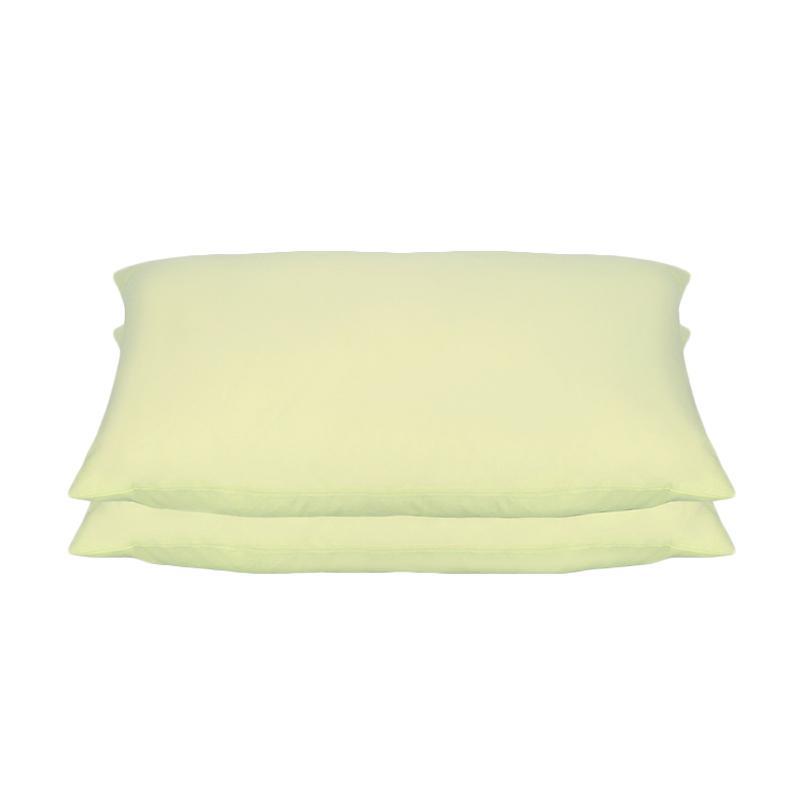 Tren-D-home Polos Set Sarung Bantal Tidur - Light Yellow Pastel Series [50 x 70 cm/2 pcs]