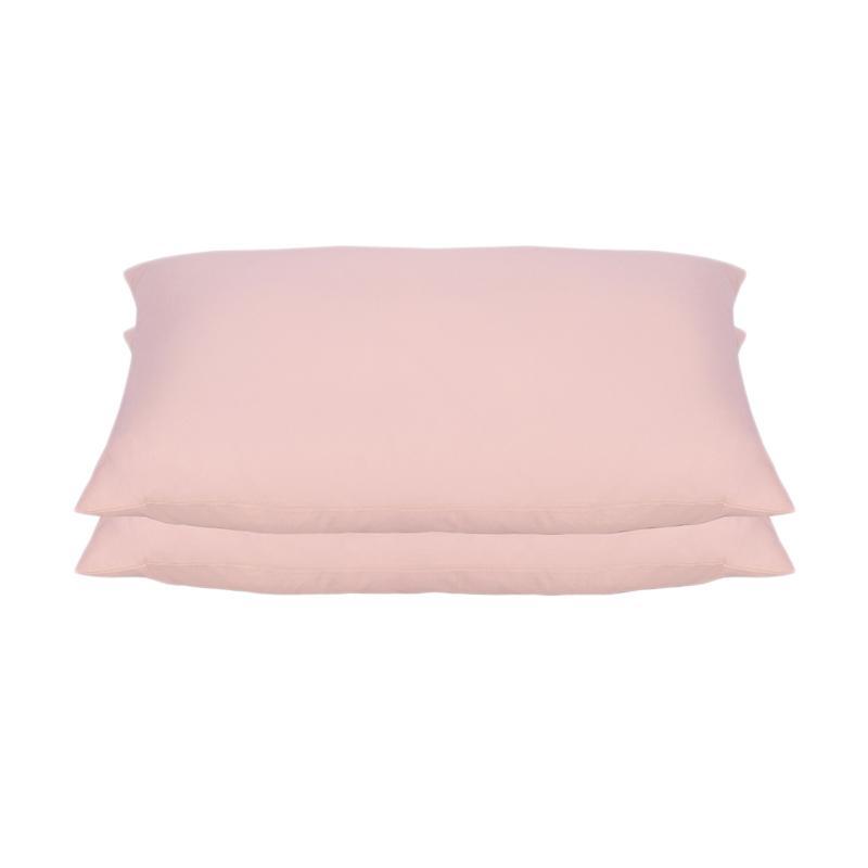 Tren-D-home Polos Set Sarung Bantal Tidur - Baby Pink Pastel Series [50 x 70 cm/2 pcs]