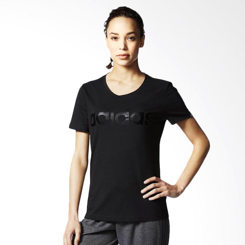 adidas Originals Linear Tee Kaos Olahraga Wanita - Black [AY4992]
